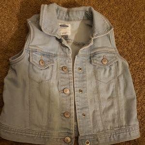 Old navy toddler denim Jean vest 5t